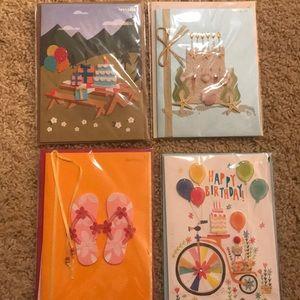 Summer themed birthday cards